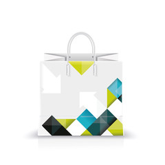 Vector illustration of white shopping paper or plastic bag