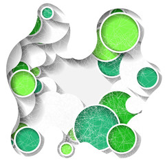 Bright abstract background with green circles. Eps10