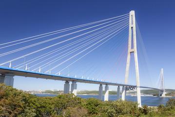 Bridge Russky through the Strait of Eastern Bosphorus