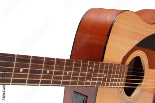 isolated part of guitar in white background