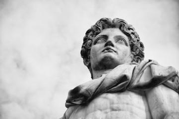 Roma, Piazza del Campidoglio. Statua di Castore.
