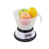 The image of scales with fruits