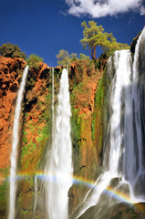Rainbow at Ouzoud waterfall, Morocco