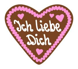 """Lebkuchenherz """"Ich liebe Dich"""""""