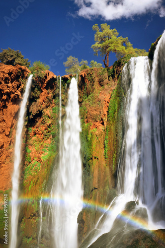 Rainbow at Ouzoud waterfall, Morocco