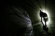 Silhouette in a underground - 60959851