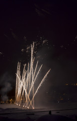 Fireworks in the evening