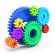 Colorful gear wheels - tools and settings icon