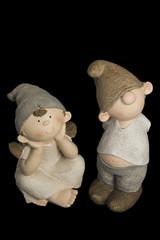 Pareja de muñecos de cerámica