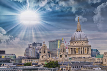 St. Paul Cathedral with beautiful sky