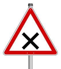 Kreuzung Schild  #140201-svg01