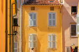 Traditional houses,  St. Tropez, Cote d'Azur, France.