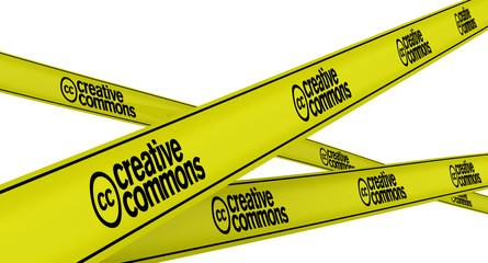 Creative commons. Желтая оградительная лента