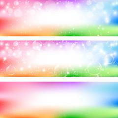 背景 虹 シャボン玉