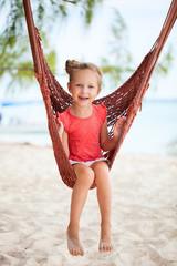 Adorable little girl in hammock