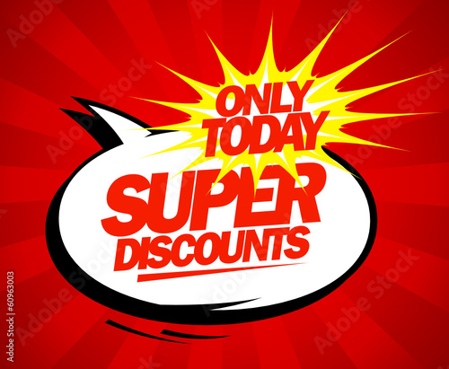 Super discounts design pop-art style