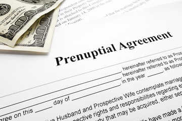 prenup and cash