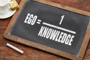 ego and knowledge concept
