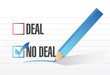 deal no deal check mark selection illustration