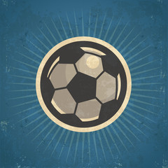 Retro Soccer Ball Illustration