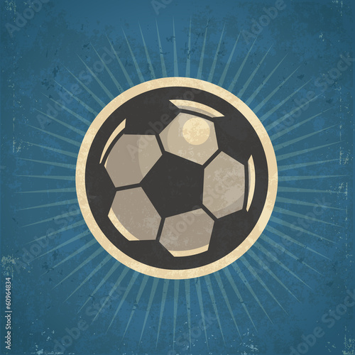 Retro Soccer Ball Illustration