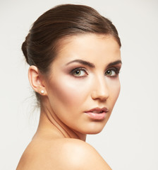 Woman face beauty style portrait.