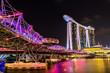 Nightscape of Singapore Marina Bay Sand