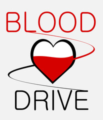 medical blood drive graphic design with heart