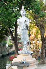 Beautiful Buddha in temple, Nonthaburi, Thailand