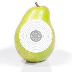 Target ripe pear