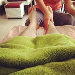foot massage at spa