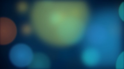 Defocused bokeh particles background animation