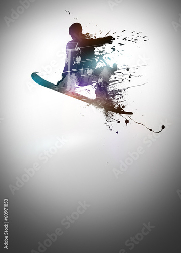 Snowboard background