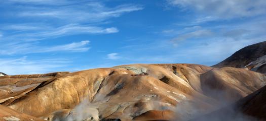 Islanda montagne colorate e fumarole