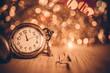 Vintage clock glowing background