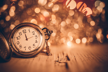 Vintage clock glowing background