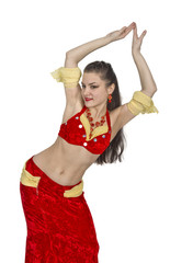 Russian  woman  like oriental  dance and  belly  dance