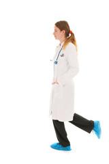 Female doctor running