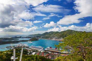 Beautiful landscape of Saint Thomas, U.S. Virgin Islands