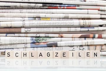 Schlagzeile Pressemeldung © Matthias Buehner