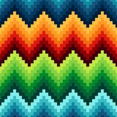 seamless pixelated chevron pattern