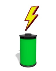 Battery with lightning