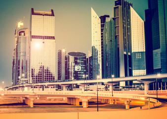 evening city landscape
