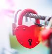 Lock in hart shape