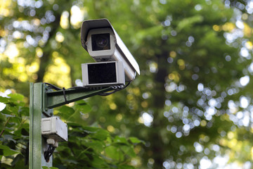 Security cam in park
