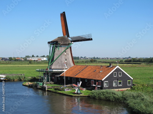 Windmühle in De Zaanse Schans (Holland)