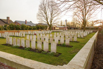 Cemetery world war flanders fields Belgium