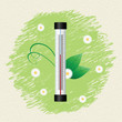 Thermometer by seasons. Spring