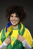 Fussball Fan Brasilien