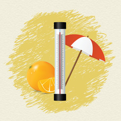 Thermometer by seasons. Summer